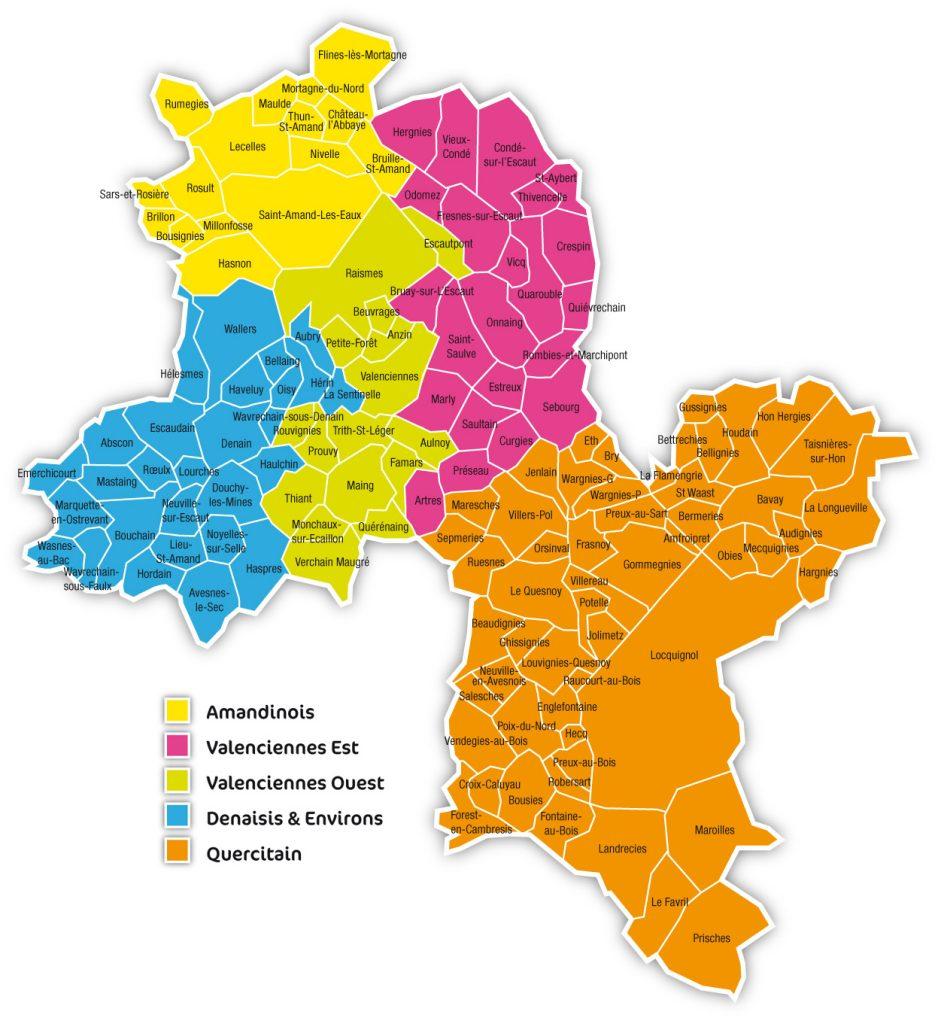 Carte territoire MAIA Valenciennois